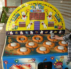Whac-A-Mole arcade redemption game with dogs