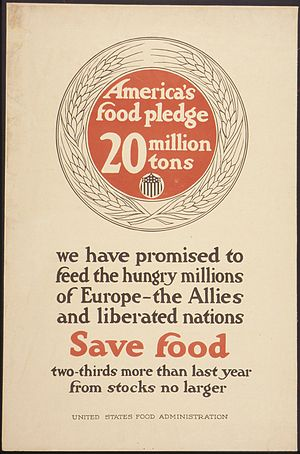 """America's Food Pledge 20 Million tons. W..."