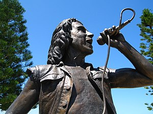 Statue of Bon Scott by Greg James. Fisherman's...