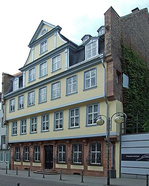 English: Goethe-House, Grosser Hirschgraben, F...