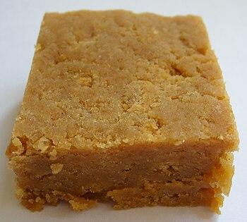 Handmade ginger fudge.
