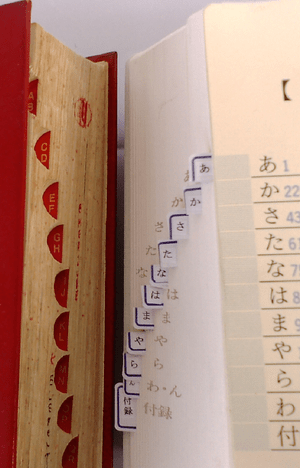Quick index tab on Japanese and English-Englis...