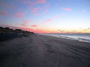 Sunrise in Montauk (East Hampton), New York, t...