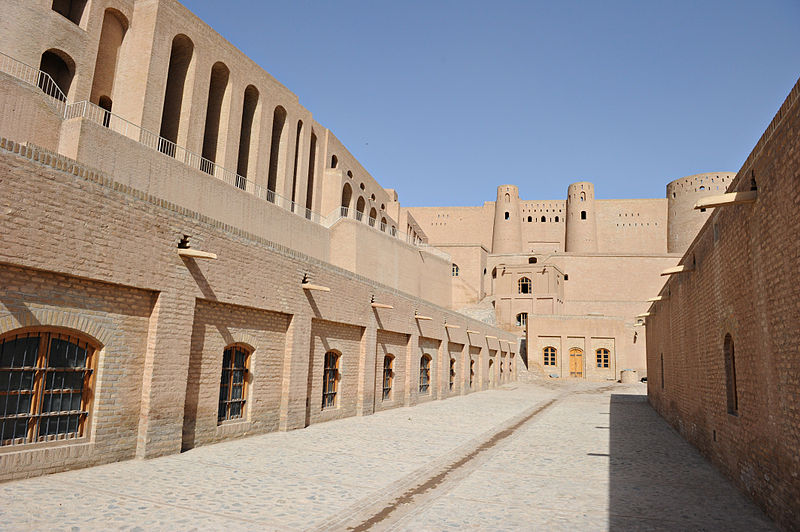 File:Pathway inside the citadel of Alexander in Herat.jpg