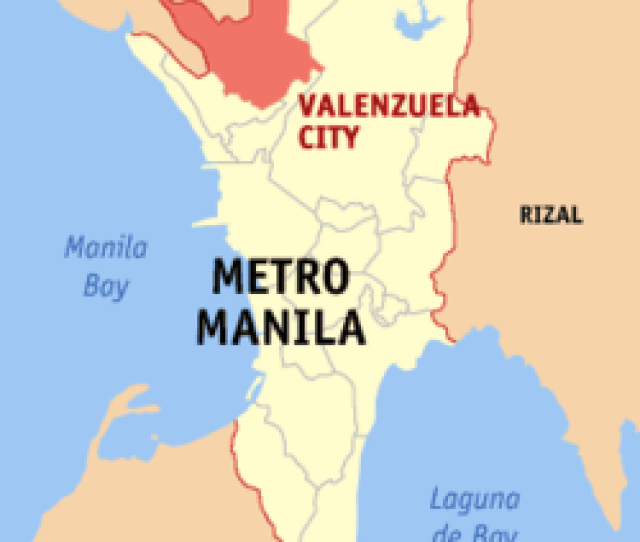 Map Of Metro Manila With Valenzuela Highlighted