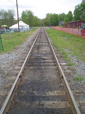 "Railroad tracks ""vanishing"" into the..."