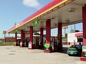 A Sheetz gas station in Breezewood, Pennsylvan...