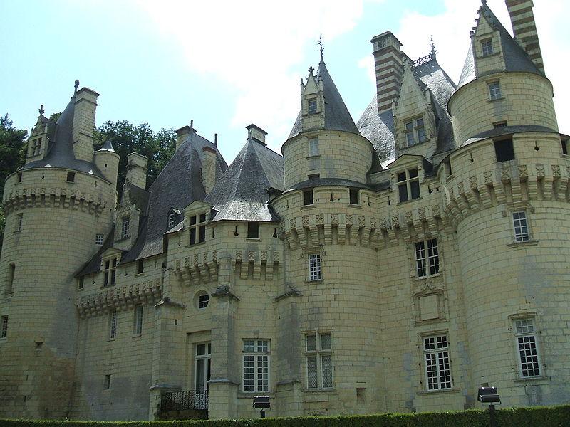 Side of Château d'Ussé