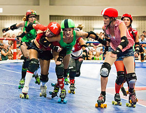 English: Roller Derby game between the Cherry ...