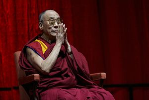 English: The 14th Dalai Lama, Tenzin Gyatso in...