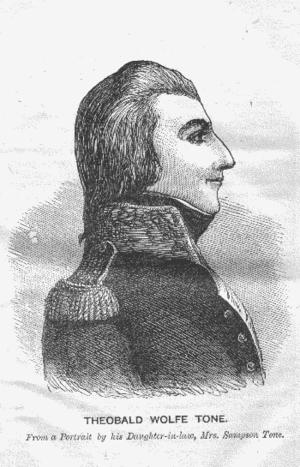 Theobald Wolfe Tone circa 1794. Tone is consid...