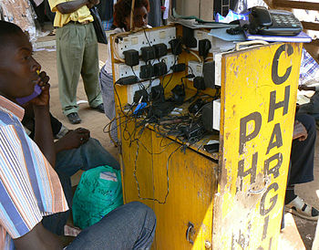 Uganda - mobile phone charging service