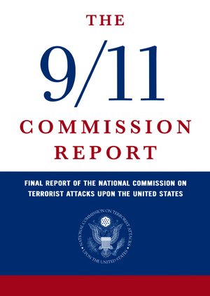English: 9/11 Commision Report cover. Español:...