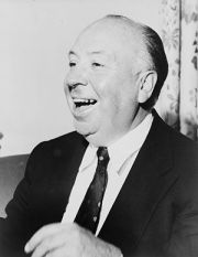Alfred Hitchcock, head-and-shoulders portrait,...