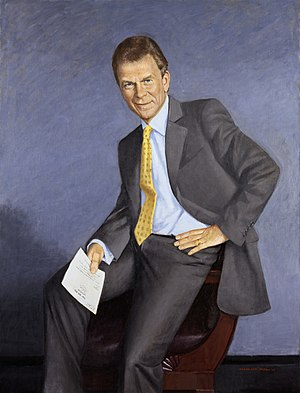 English: Official Senate portrait of former Ma...