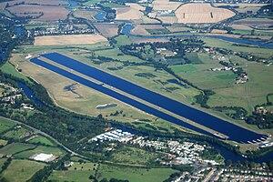 Aerial view of Dorney Lake, Buckinghamshire, E...