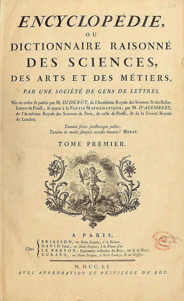Encyclopedie de D'Alembert et Diderot - Premiere Page - ENC 1-NA5.jpg