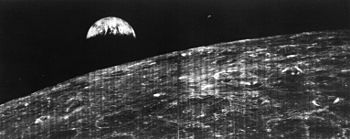 La primera foto de la Tierra vista desde la Luna en 1966, aquí en Madrid!