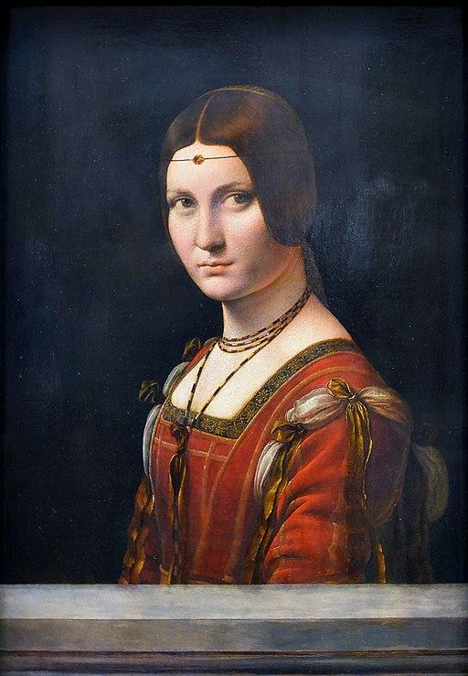 """La belle ferronnière"" by Leonardo da Vinci"