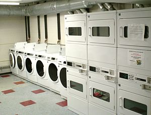 English: Courtney Hall Laundry Room, Westfield...