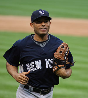 New York Yankee closer Mariano Rivera before a...