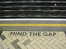 victoria station tube mind the gap