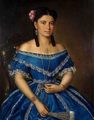 Femeia în albastru - The girl in blue dress