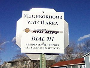 English: Neighborhood watch sign in Jefferson ...
