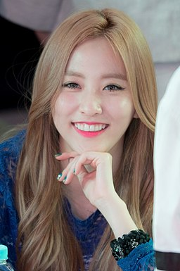 Na Haeryung at a fansigning event in Sinchon, 23 May 2015