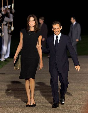 President Nicolas Sarkozy of France and his wi...