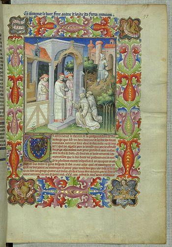 English: Odoric of Pordenone and Pope John XXI...