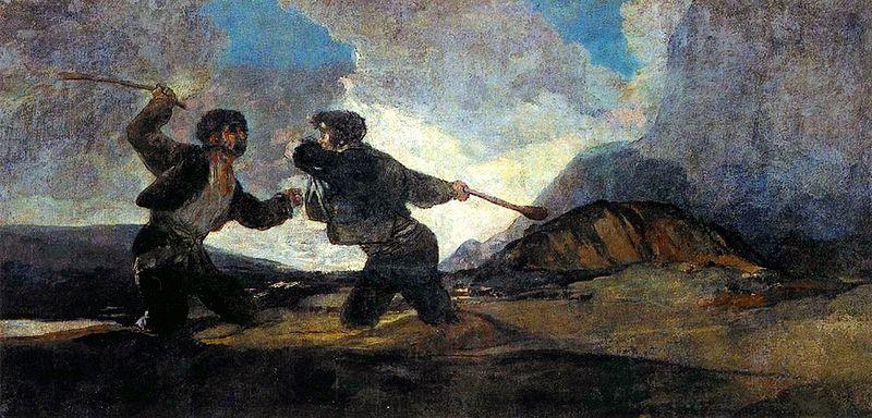 Duelo a garrotazos, de Goya