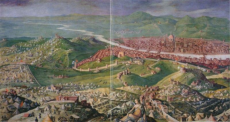Siège de Florence (1529-1530) par Vasari et Stradano, 1558.