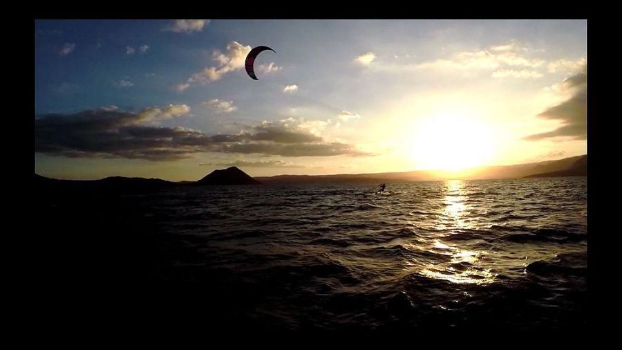 A kiteboarder in Taal Lake.  Photo by Andrew Buensalida.