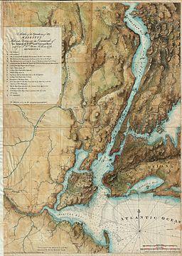 1864 - 1777 Valentine - Des Barres Map of New York City and Harbor - Geographicus - NewYork-howevalentine-1864