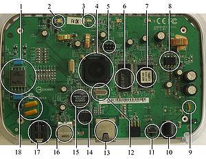 A Netgear DG632 ADSL modem with an 8 pin JTAG ...