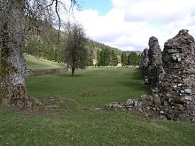 English: Abaty Cwm Hir. The remains of the abb...