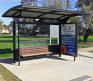 English: Bus stop shelter in Wagga Wagga, New ...