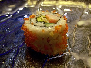 California roll served in Shanghai