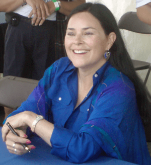 Picture of the author Diana Gabaldon during a ...