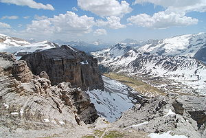 Dolomites Italy 2009, view from Pordoi