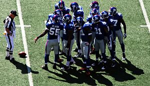 The New York Giants in a December 2008 game ag...
