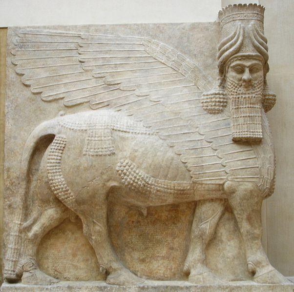 https://i2.wp.com/upload.wikimedia.org/wikipedia/commons/thumb/2/2c/Human_headed_winged_bull_facing.jpg/602px-Human_headed_winged_bull_facing.jpg