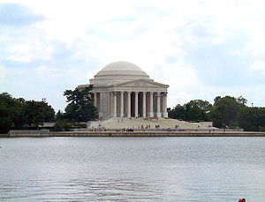 Jefferson Memorial in Washington, D.C., viewed...