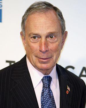 English: Michael Bloomberg attending the premi...