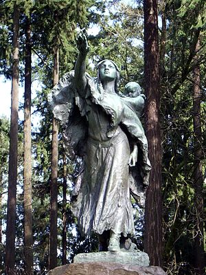 Statue of Sacajawea in Washington Park, Portla...