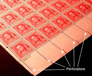 English: Sheet of US Postage stamps, 1940 issu...