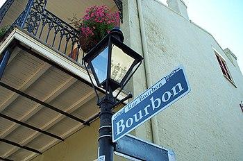 The famous Rue Bourbon (Bourbon Street) in New...
