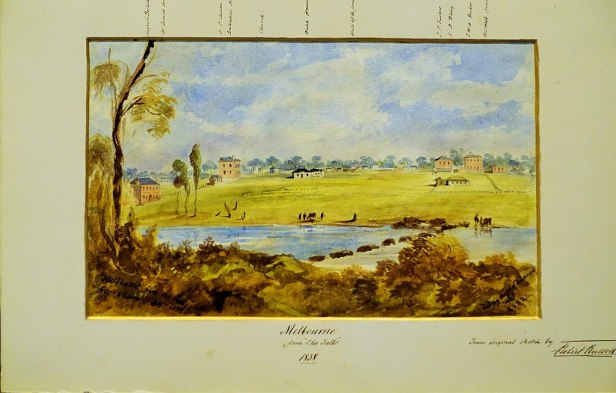 "State Library of Victoria - Joy of Museums - ""Melbourne from The Falls"" by Robert Russell"