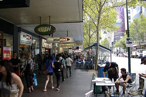 Swanston Street shops